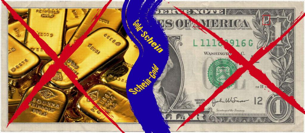 scheingeld goldschein gold geld
